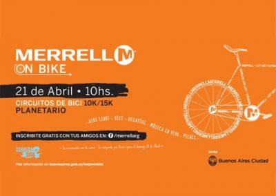 Merrel on bike