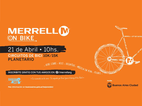 Merrel on bike